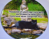 Cats were worshipped as gods 2.25 Inch Magnet