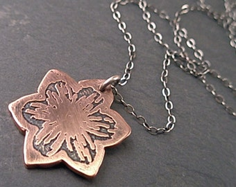 Alice Necklace - Copper and Sterling Silver