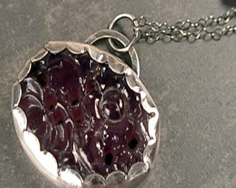 Edith Necklace - Vintage Glass and Sterling Silver