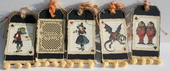 Alice in Wonderland Halloween 5 funky  tags