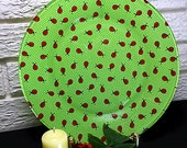 Lady Bug decorated dinner plate
