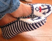 Nautical Slippers, navy and white, perfect for men and boys