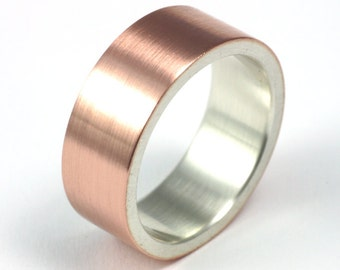Rose Gold and Silver Wedding Band