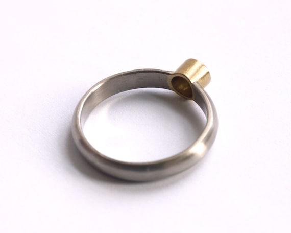 White and Yellow Gold .25ct Diamond Engagement Ring