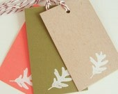 Falling Leaf Gift Tags - assorted autumn colors