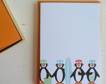 chillen penguins - boxed note card set