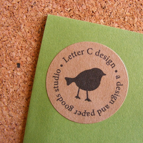 Kraft Little Bird Return Address Labels