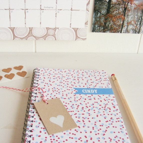 Confetti Personalized Notebook - Choice of Colors