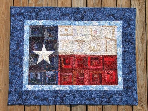 Texas Flag Quilt Pattern By Stonebelle On Etsy
