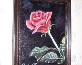 Half Off Oil Painting of ROse