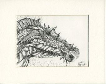 Dragon close up (Original pen drawing)))))))))