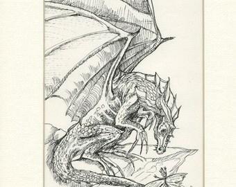 The little messenger (original pen drawing)))))))