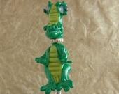 Ido-Krase Year of the Dragon fantasy lampwork dragon sculptural bead - handmade SRA glass bead no. B-011-01