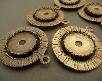 2 Steampunk Settings 18mm - Mobile Charms