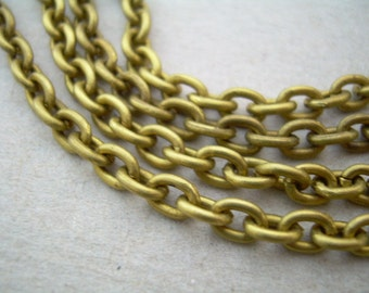 20 ft Vintage Solid Brass Cable Chain