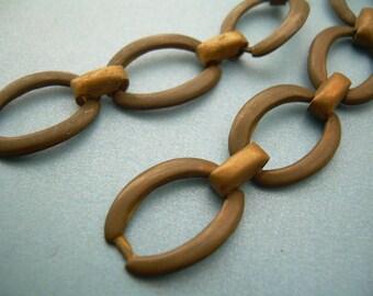 2 Brass Link Chains - Vintage for Steampunk Bracelet