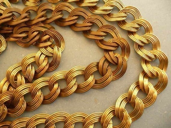 Brass Chain - Vintage and Ornate Rope Style (1.5 ft)