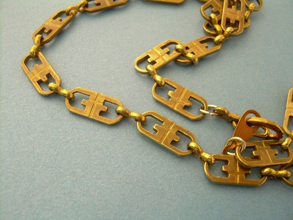 Brass Gucci Chain Vintage Necklace 18in - Last One