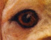 Custom Animal Portrait  in Needle Felt for Framing, Dog, Horse or Cat