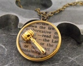 Law Definition Artful Hardware Pendant