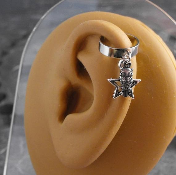 The Starry Night Owl Artful Hardware Ear Cuff