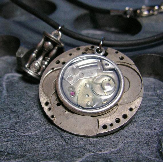 Fleeting Sands of Time Artful Hardware Pendant