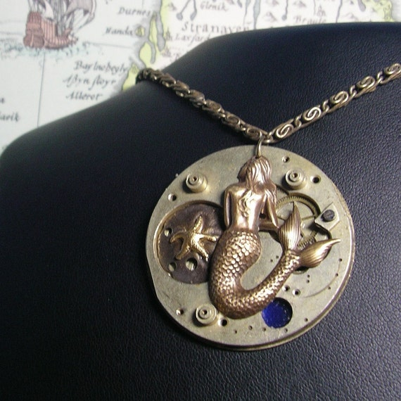 CLEARANCE Ode To the Mermaid's Longing Artful Hardware Pendant