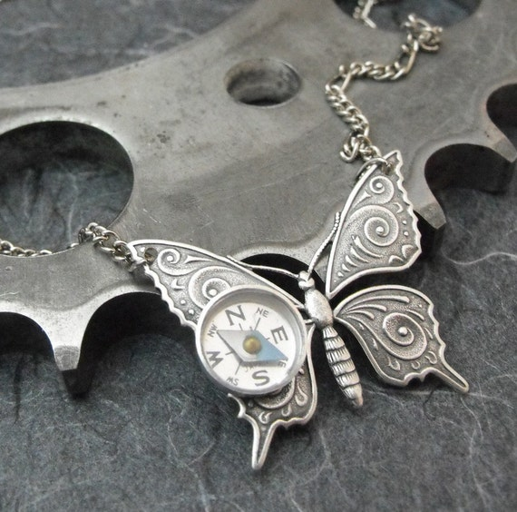 SALE Flight of the Travelling Butterfly Artful Hardware Pendant