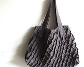 x-pleat carryall - linen tote bag