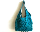 lax tote linen bag - parrot blue tote bag - linen tote