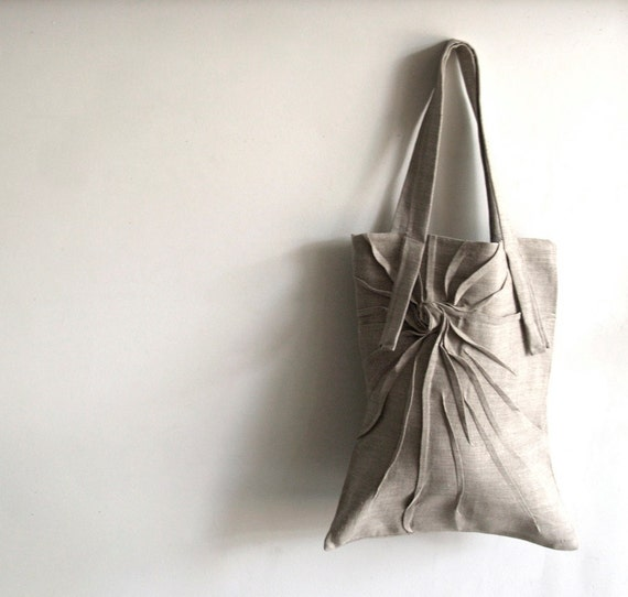 RESERVED for  WW - Mum tote - Natural linen tote bag