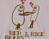 Mens RED BEANS And RICE Tshirt Funny, foodie, unisex shirt American Apparel