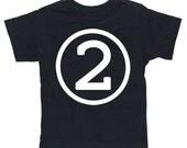 Kids CIRCLE Second Birthday T-shirt - Black