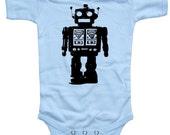 Baby Futuristic ROBOT Bodysuit - Light Blue