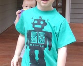 Robot T shirt for Kids, Babies, Toddlers 2t, 4t, 6 8, 10. 12