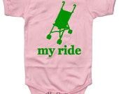Baby Girl MY RIDE bodysuit funny onesie 6m 12m