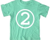 Kids CIRCLE Second Birthday T-shirt - Green