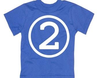 Kids CIRCLE Second Birthday T-shirt - Royal Blue