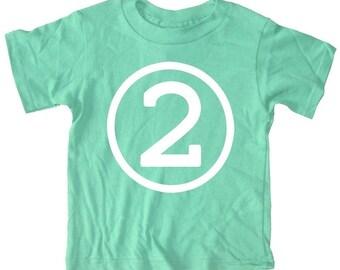 Kids CIRCLE Second Birthday T-shirt - Green