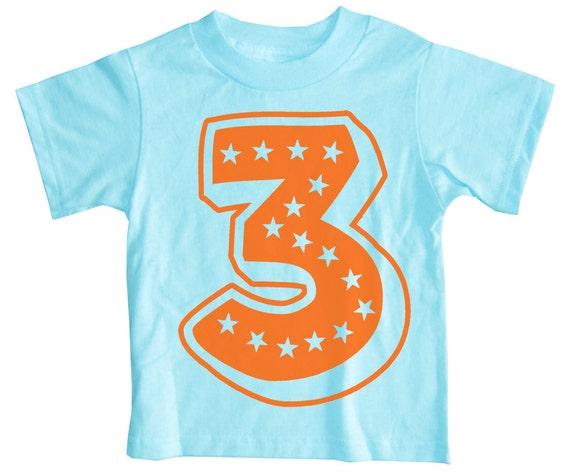 Kids SUPERSTAR Third Birthday T-shirt