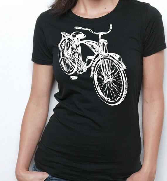 vintage schwinn bicycle school bike retro design print