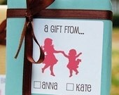 Custom Gift Labels for Kids - Personalized for Birthday Presents - Choose your Silhouette(s) - Set of 40