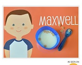 Personalized Placemat for a Boy - olliegraphic