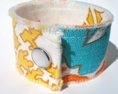Vintage Fabric Cuff - Funky Floral
