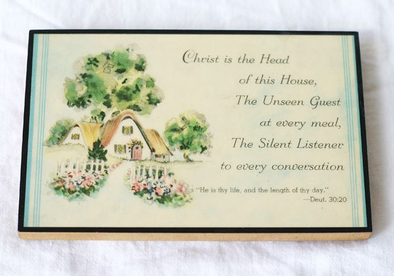 Vintage Wall Plaque The Unseen Guest