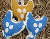 Chicken Ornament Set of 10 Reserved for Sara O
