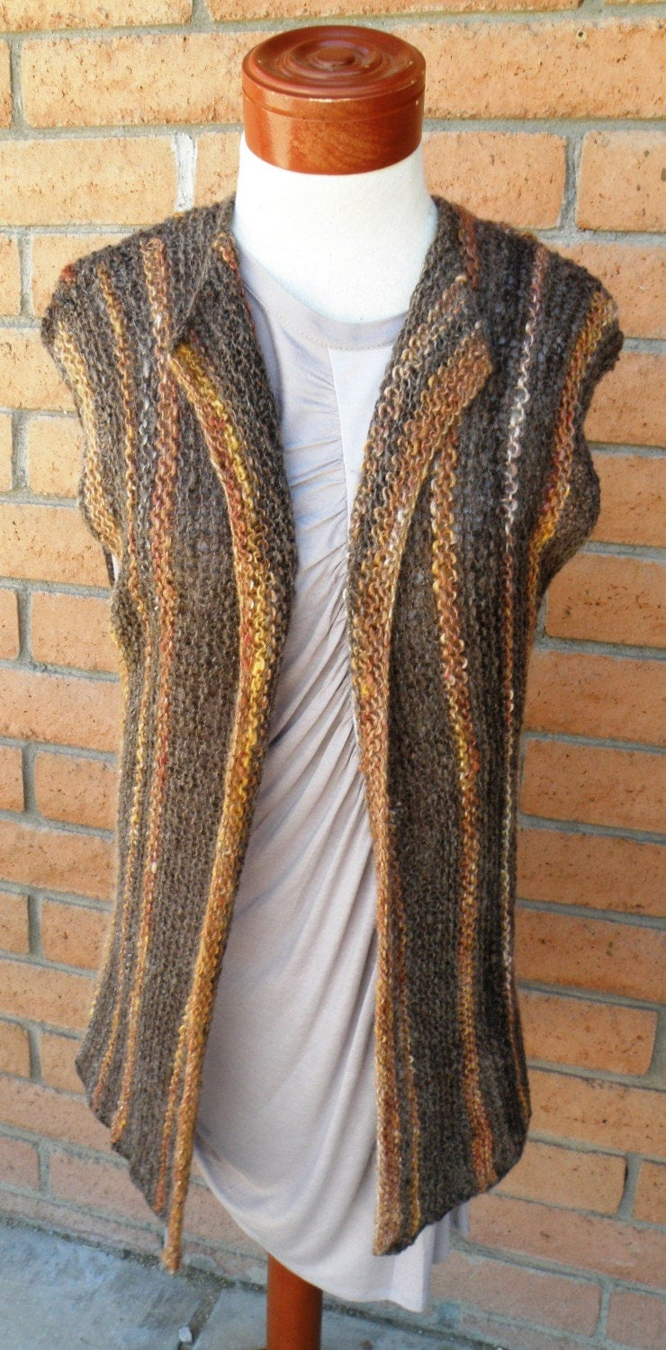 Knitting Patterns For Beginners Vest : Versatile Long Knit Vest Pattern Suited to Beginners