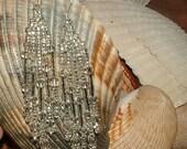 Silver Hand-beaded Earrings - FREE SHIPPING -