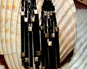 Striking Black and Gold Earrings - FREE SHIPPING -