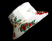 Sunhat Fabric Summer Hat Australian Wild Flowers Reversible Cloche Australiana